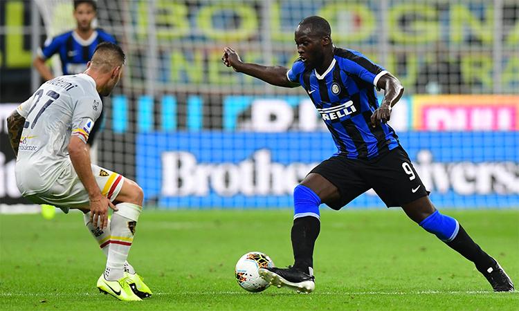 Thống kê sau trận của Squawka cho thấy Lukaku tạo ra bốn cơ hội trước Lecce - nhiều nhất trong số cầu thủ Inter ra sân hôm qua. Ảnh: AFP.