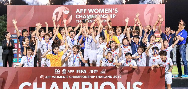 Đánh bại chủ nhà Thái Lan, Việt Nam lần thứ ba vô địch giải nữ Đông Nam Á.
