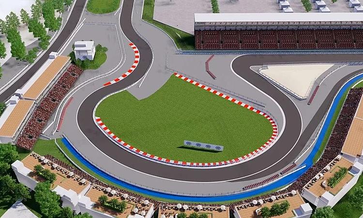 Phối cảnh những góc cua đầu tiên của chặng F1 Hà Nội. Ảnh: F1.
