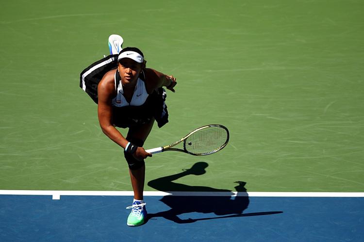 Osaka chỉ gặp chút khó khăn ở set 1, trước khiđánh bại Gauff. Ảnh: WTA.
