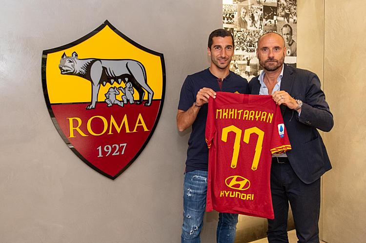Mkhitaryan sẽ khoác áo số 77 tại Roma. Ảnh: AS Roma.