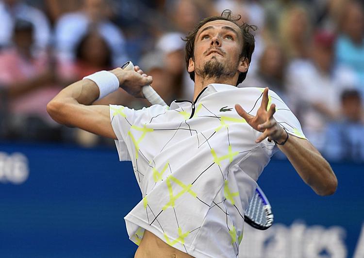 Medvedev chính thức giành vé dự ATP Finals - giải đấu dành cho tám tay vợt hay nhất năm 2019. Ảnh: AP.