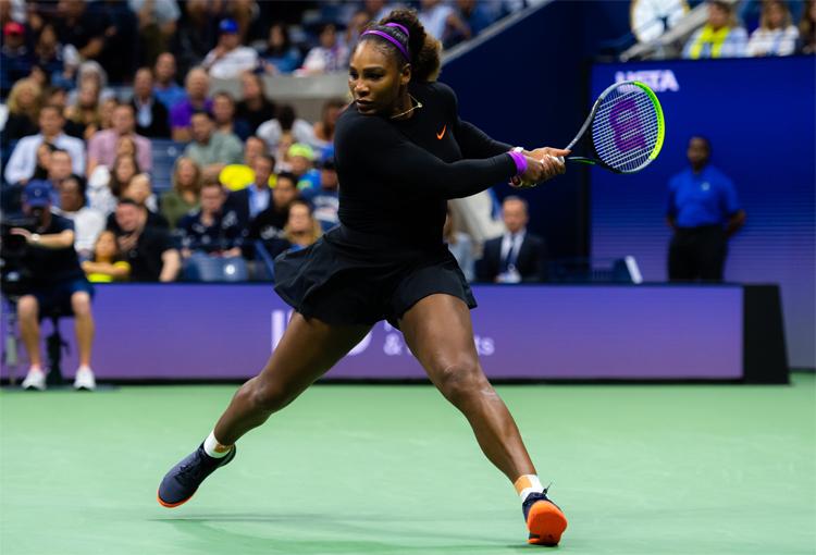 Serena chỉ để thua một game trong chiến thắng nhàn nhã trước Wang. Ảnh: WTA.