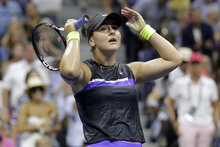 Andreescu là người trẻ nhất vào bán kết Mỹ Mở rộngtừ sau Caroline Wozniacki năm 2009. Ảnh: AP.