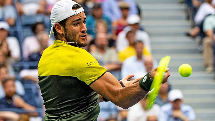 Berrettini là tay vợt Italy đầu tiên vào bán kết Mỹ Mở rộng kể từ Corrado Barazzutti năm 1977. Ảnh: ATP Tour.