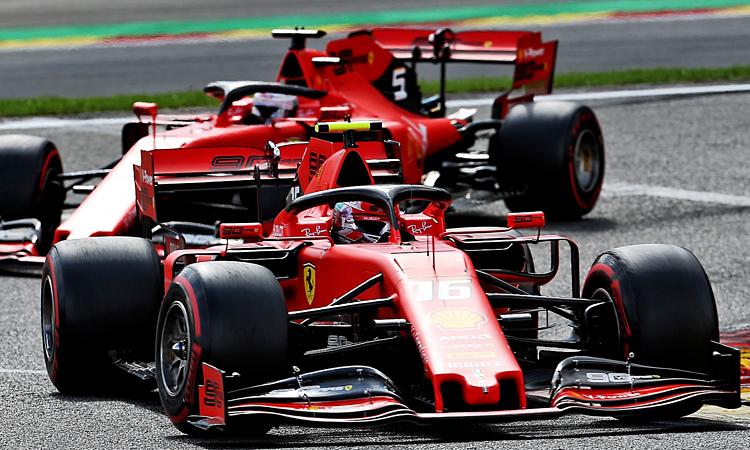 Chiến thắng của Leclercở Spa giúp Ferrari giảm bớt áp lực trước khi bước vào đường đua sân nhà. Ảnh: XPB.