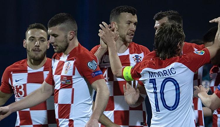 Croatia thắng trận đầu tiên trên sân khách tại vòng loại Euro 2020. Ảnh: HNS.