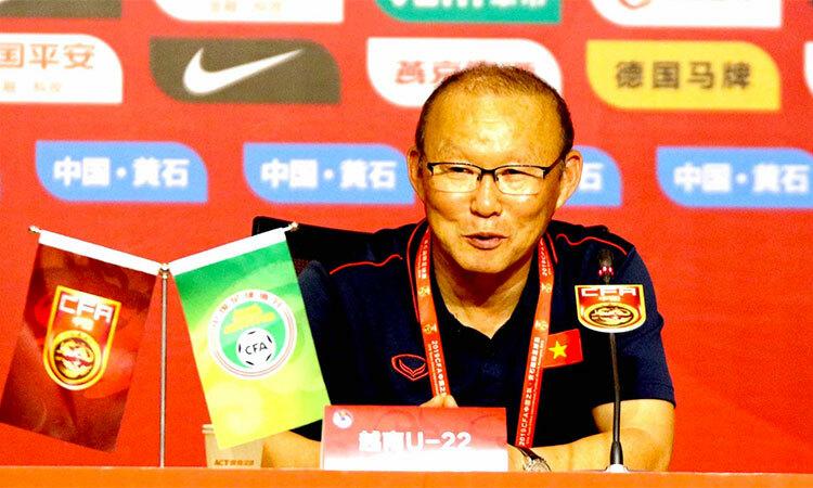 HLV Park hài lòng với cách các học trò thể hiện, nhưng không muốn đội chủ quan vì thắng lợi trước U22 Trung Quốc.