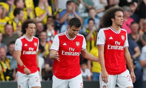 Arsenal mất hai điểm trong nuối tiếc. Ảnh: Reuters
