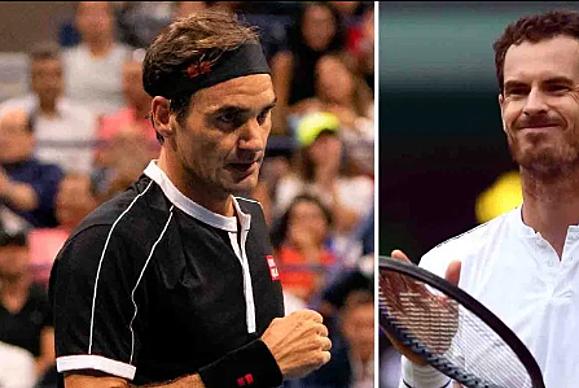 Federer (trái) và Murray đã không thi đấu với nhau trong hơn bốn năm qua. Ảnh: Sun.