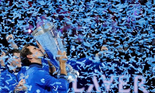 Federer bổ sung thêm một danh hiệu vào bộ sưu tập thành tích đồ sộ. Ảnh: Reuters.