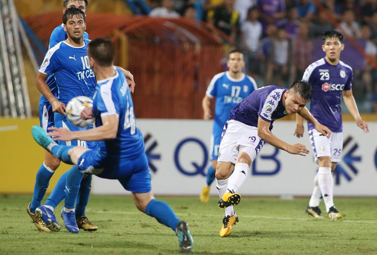 Hà Nội nuôi tham vọng vô địch AFC Cup sau khi sớm hoàn thành nhiệm vụ bảo vệ ngai vàng V-League. Ảnh: Lâm Thoả