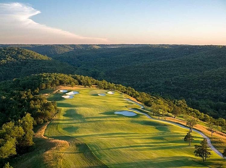 Một phần hố số 1 sân Payne's Valley nhìn từ trên cao. Ảnh: Golf.com.