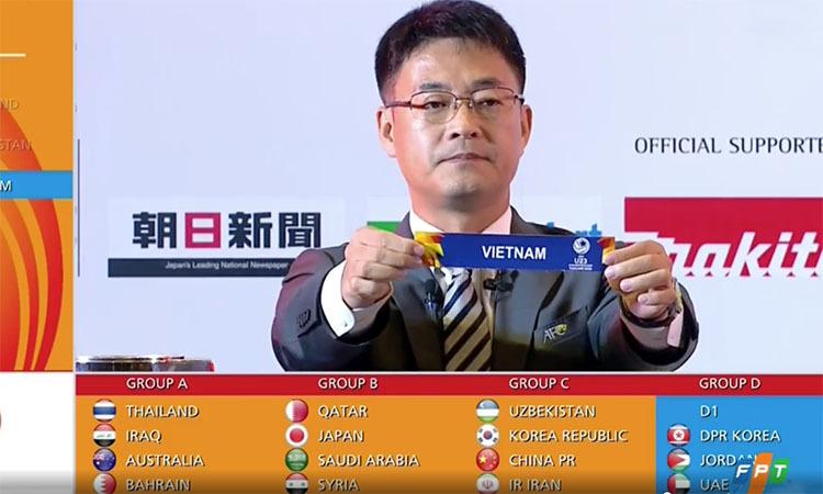Việt Nam chung bảng với Triều Tiên, Jordan, UAE - ảnh 1