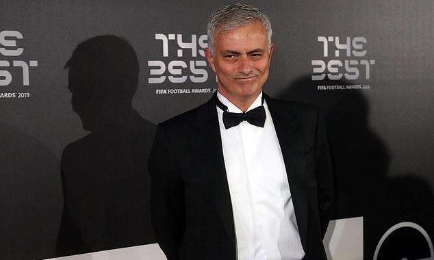 Mourinho tại lễ trao giải The Best hồi tuần trước. Ảnh: EPA.