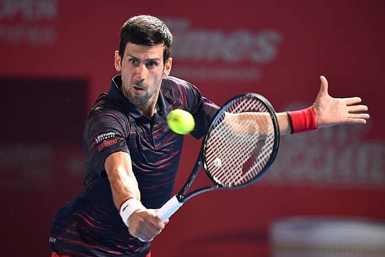 Djokovic thắng 42 trận và thua tám trận từ đầu năm 2019. Ảnh: AFP.
