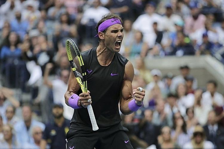 Nadal đoạt hai Grand Slam trong năm 2019, gồm Roland Garros và Mỹ Mở rộng. Ảnh: AP.