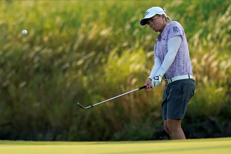 Sharp đứng trước cơ hội thêm một lần cán đích trong top 10 chung cuộc tại một sự kiện LPGA Tour. Ảnh: AFP.