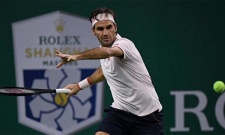 Vắng Nadal, nhưng con đường chờ đợi Federer phía trước tại Thượng Hải Masters hứa hẹn vẫn rất chông gai. Ảnh: CGTN.