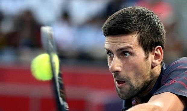 Djokovic thắng toàn bộ các set đấu tại Tokyo từ đầu giải. Ảnh: AP.