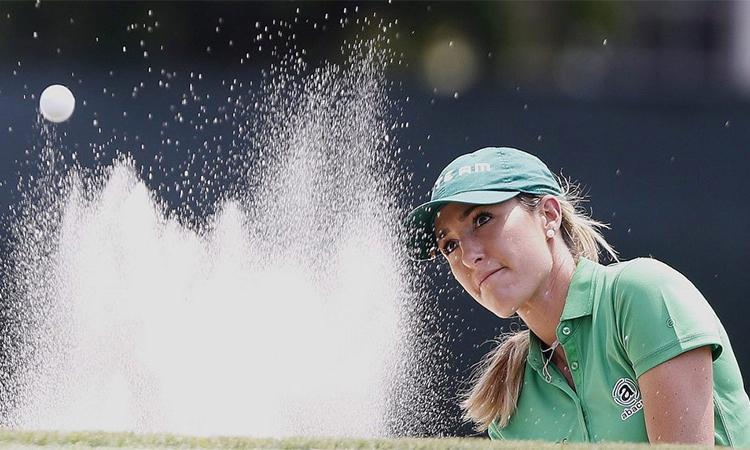 Vị trí dẫn đầu giúp Green có cơ hội lớn lần đầu lên ngôi ở một sự kiện LPGA Tour. Ảnh: AP.
