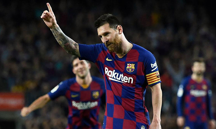 Messi trở lại và lập tức tỏa sáng trong màu áo Barca. Ảnh: AFP.