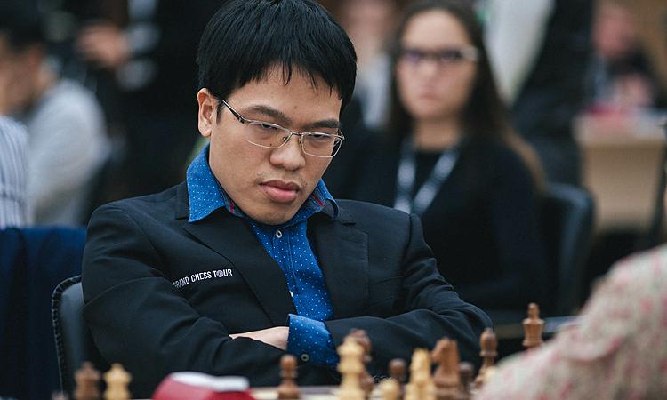 Quang Liêm vừa thi đấu thành công ở Cup Cờ vua Thế giới tại Khanty Mansi, Nga. Ảnh: FWC.