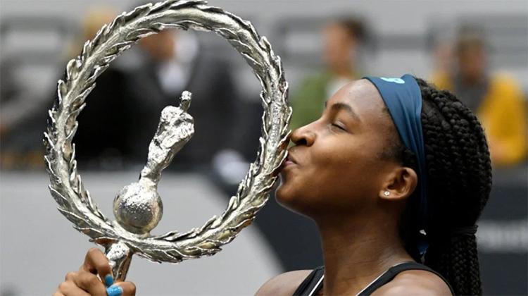 Chiến thắng ở Linz giúp Gauff lần đầu có một danh hiệu WTA. Ảnh: AP.