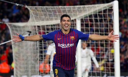 Mùa trước, trong trận El Clasico lượt đi trên sân nhà, Barca thắng với tỷ số 5-1. Ảnh: Reuters
