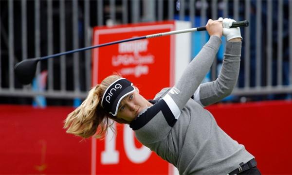 Brooke Henderson đang tìm kiếm danh hiệu LPGA Tour thứ ba trong năm. Ảnh: AP.