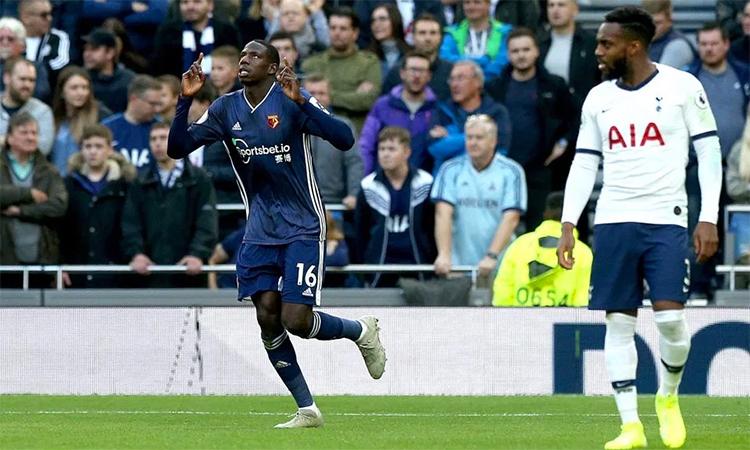 Trận hoà 1-1 trên sân Tottenham giúp Watford có điểm số đầu tiên trong 17 lần làm khách trên sân các đội thuộc top 6 Ngoại hạng Anh. Ảnh: PA.