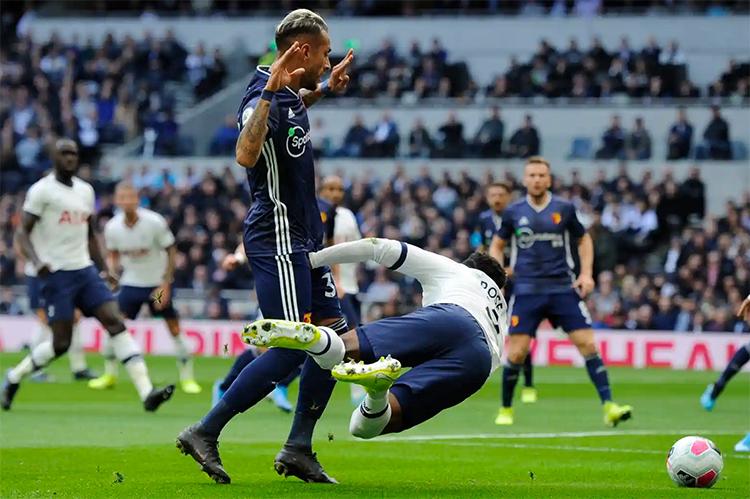 Tottenham bất lực trong phần lớn thời gian, trước một Watford bất ngờ chơi chắc chắn và hợp lý ở hầu hết tình huốngquyết định. Ảnh: BPI.