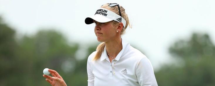 Korda đang đứng trước cơ hội đoạt danh hiệu đầu tiên mùa này. Ảnh: LPGA.