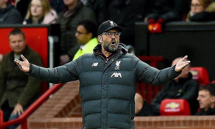 Klopp cho rằng Man Utd phải đá phòng ngự chứng tỏ sức mạnh của Liverpool lúc này. Ảnh: Reuters.