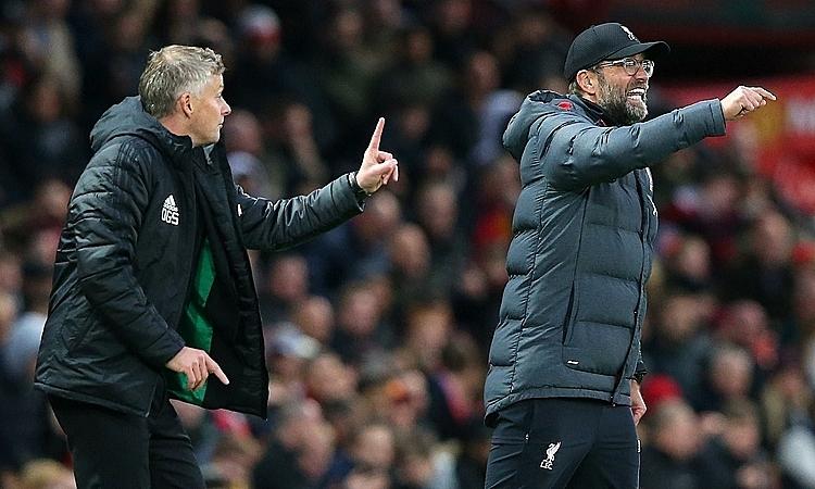 Mourinho cho rằng Solskjaer có lý do để thất vọng khi Man Utd hoà Liverpool. Ảnh: Reuters.