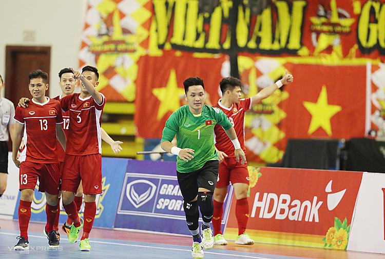Việt Nam thắng Australia ở giải futsal Đông Nam Á