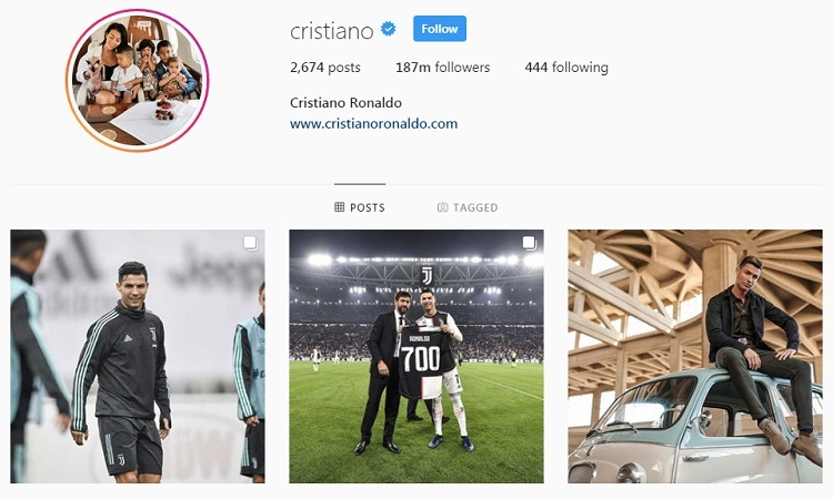 Ronaldo kiếm tiền từ Instagram nhiều hơn đá bóng - ảnh 1