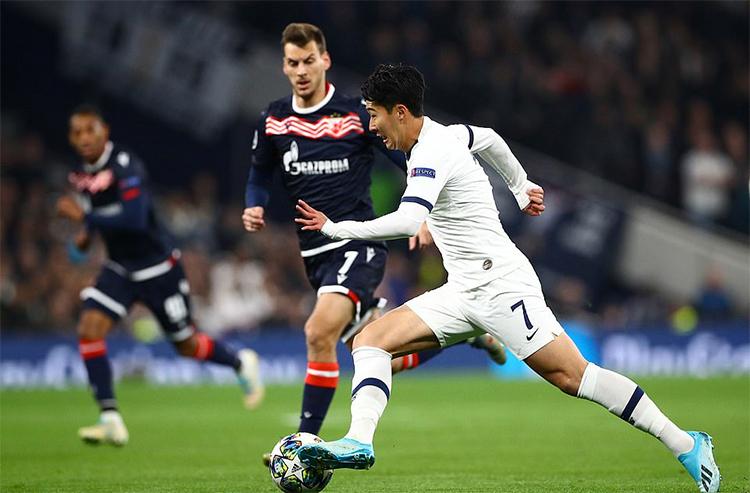 Son Heung-min mang lại xung lượng mà hàng công Tottenham còn thiếu so với trận hoà Watford hôm cuối tuần. Ảnh: Reuters.