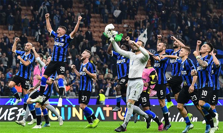Inter tái sinh hy vọng đi tiếp ở Champions League nhờ trận thắng Dortmund. Ảnh: Mediaset.