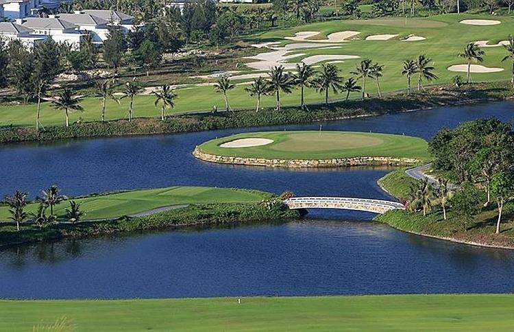 Sân golf Vinpearl Hải Phòng - nơi đăng cai hai ngày thi đấu cuối của giải.