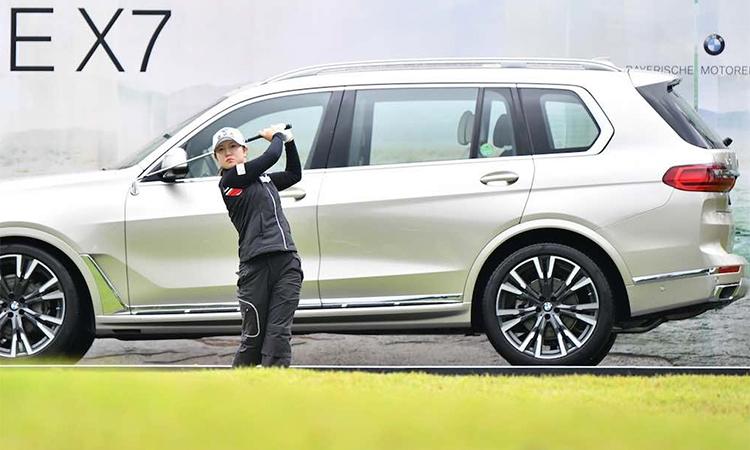 Lee Seung-yeon đang gây bất ngờ khi đồng dẫn đầu bảng xếp hạng qua ba vòng. Ảnh: BMW Ladies Championship.