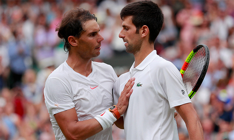 Nadal đang chiếm ưu thế trong cuộc so kè quyết liệt với Djokovic hướng tới ngôi số một thế giới. Ảnh: Reuters.