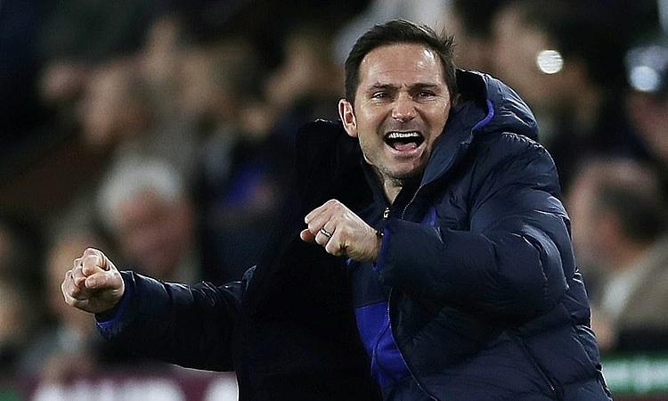 Lampard phấn khích khi Chelsea thắng trận thứ sáu liên tiếp trên mọi đấu trường. Ảnh: Reuters.
