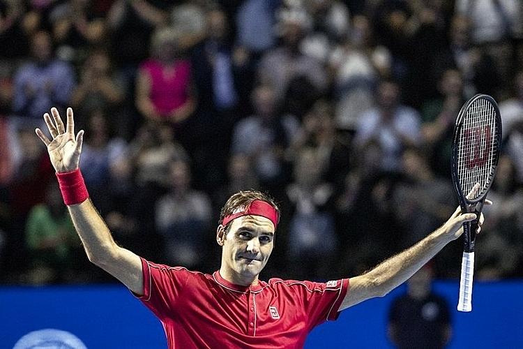 Federer muốn nghỉ ngơi sau khi vô địch ATP Swiss Indoors ở Basel. Ảnh: AP.
