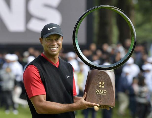 Woods đăng quang ngay lần đầu tiên Zozo Championship diễn ra. Ảnh: Reuters.