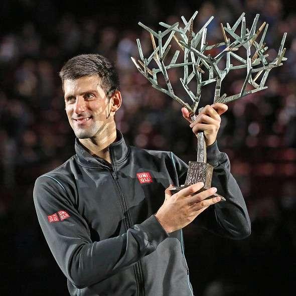 Djokovic từng bốn lần đăng quang tại Paris Masters. Ảnh: AP.