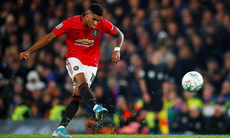 Rashford đang có phong độ cao ở Man Utd. Ảnh: Reuters.