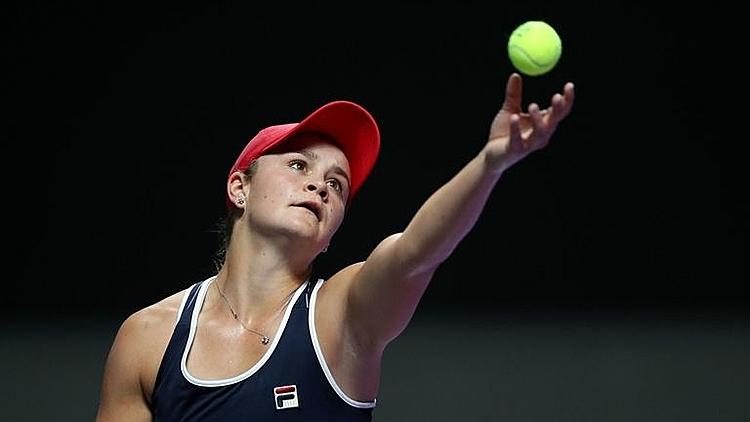 Barty lần đầu vào bán kết WTA Finals. Ảnh: Sky.