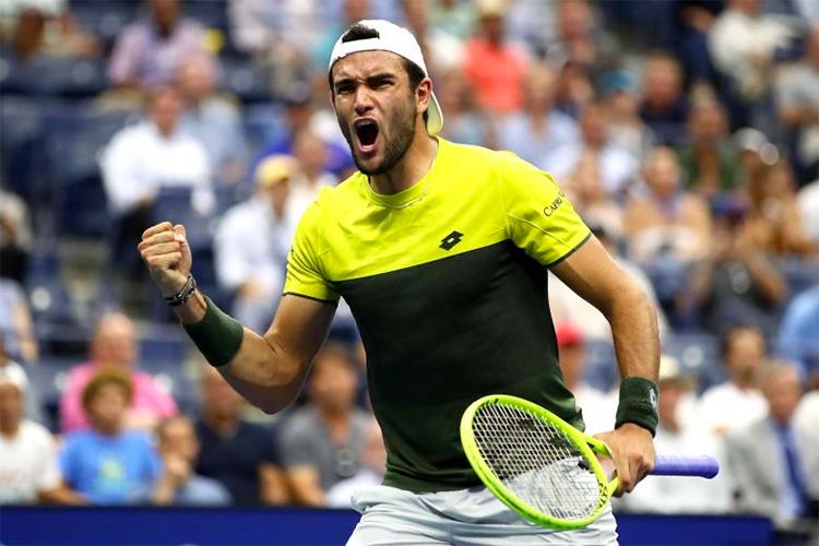 Phong độ ấn tượng trong cả năm giúp Berrettini lần đầu tiên có suất dự ATP Finals. Ảnh: AFP.