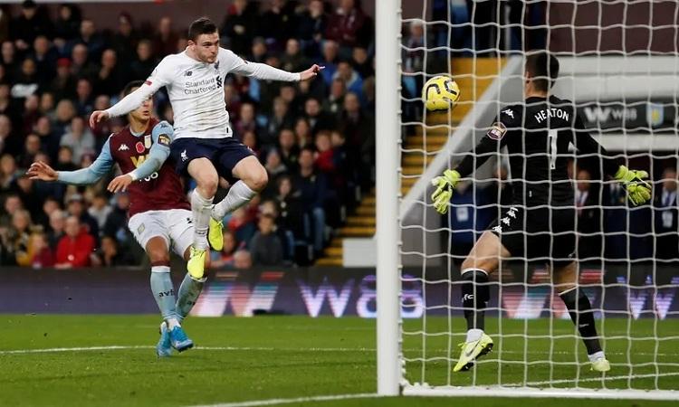 Bàn thắng của Robertson giúp Liverpool giải tỏa gánh nặng tâm lý. Ảnh: Reuters.